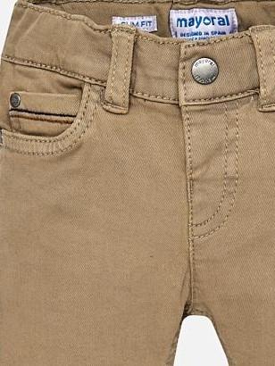 Pantalón bebé niño sarga slimfit Madera Mayoral 2552 [2]