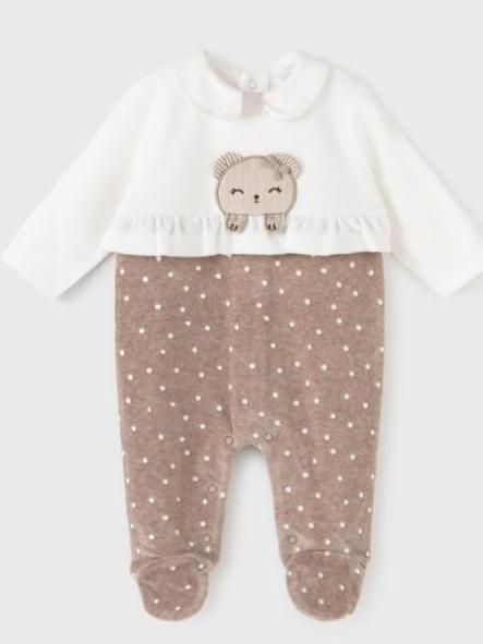 Pijama punto tundosado recién nacida