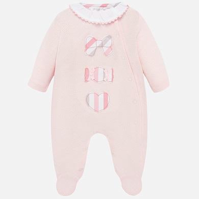 Pijama bebé algodón manga larga