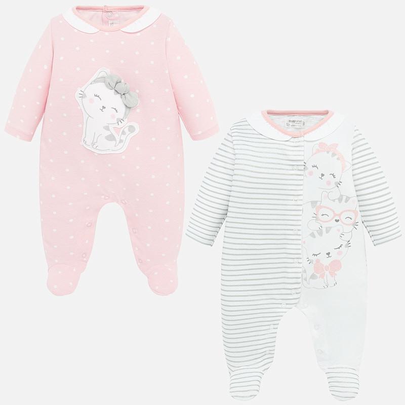 Set pijamas  largos bebé niña estampados