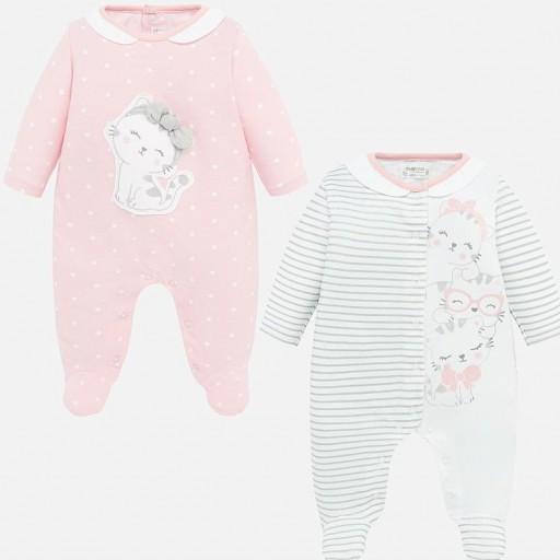 Set pijamas  largos bebé niña estampados [0]