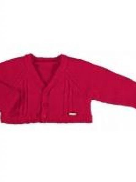 Rebeca bebé tricot rojo granate  trenzas Mayoral 2302