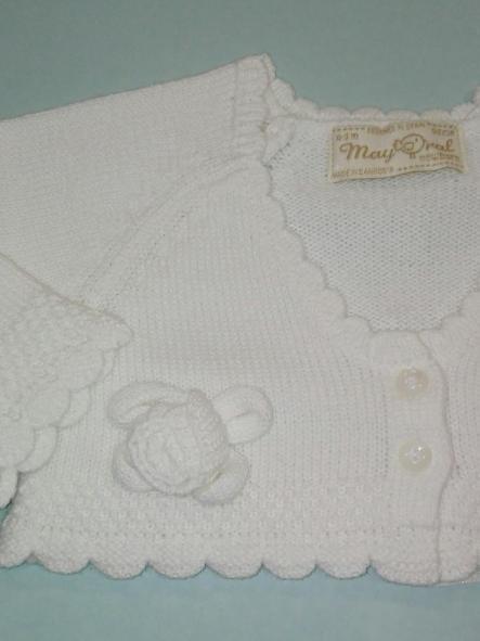 Rebeca bebé niña flores blanca Mayoral  [1]