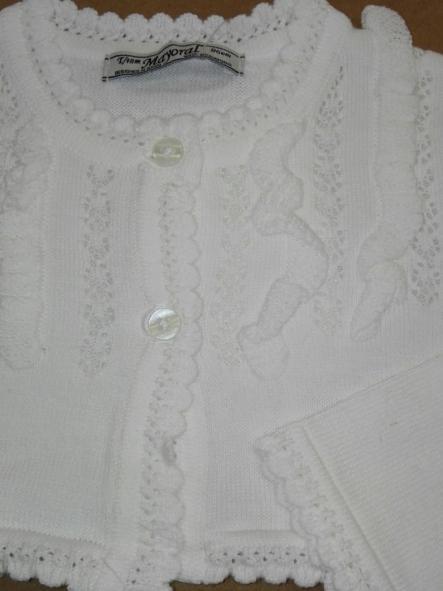 Rebeca bebé niña algodón blanca o marfil Mayoral 1322 [1]