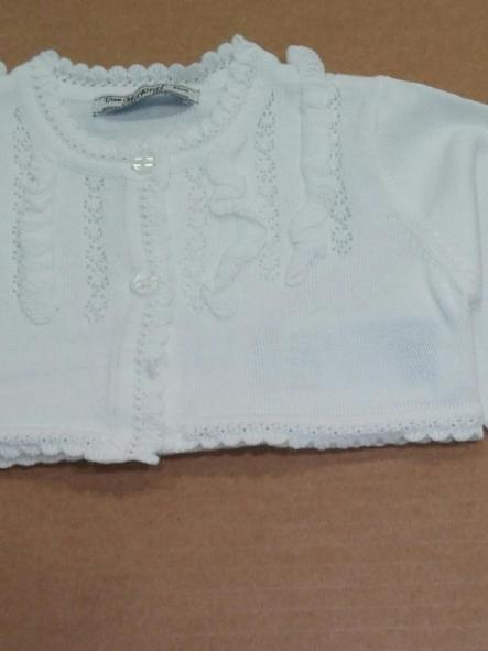 Rebeca bebé niña algodón blanca o marfil Mayoral 1322 [0]