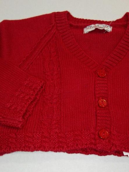 Rebeca bebé tricot rojo granate  trenzas Mayoral 2302 [1]