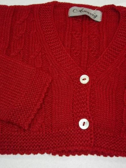 Rebeca bebé niño tricot rojo granate Anavig 0836 [1]
