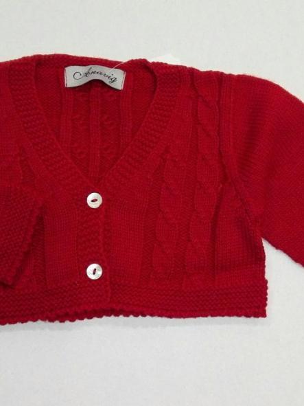 Rebeca bebé niño tricot rojo granate Anavig 0836
