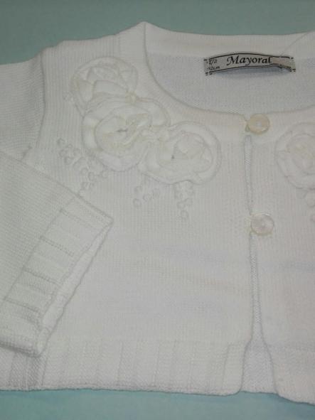 Rebeca bebé niña flores blanca Mayoral 1313 [1]