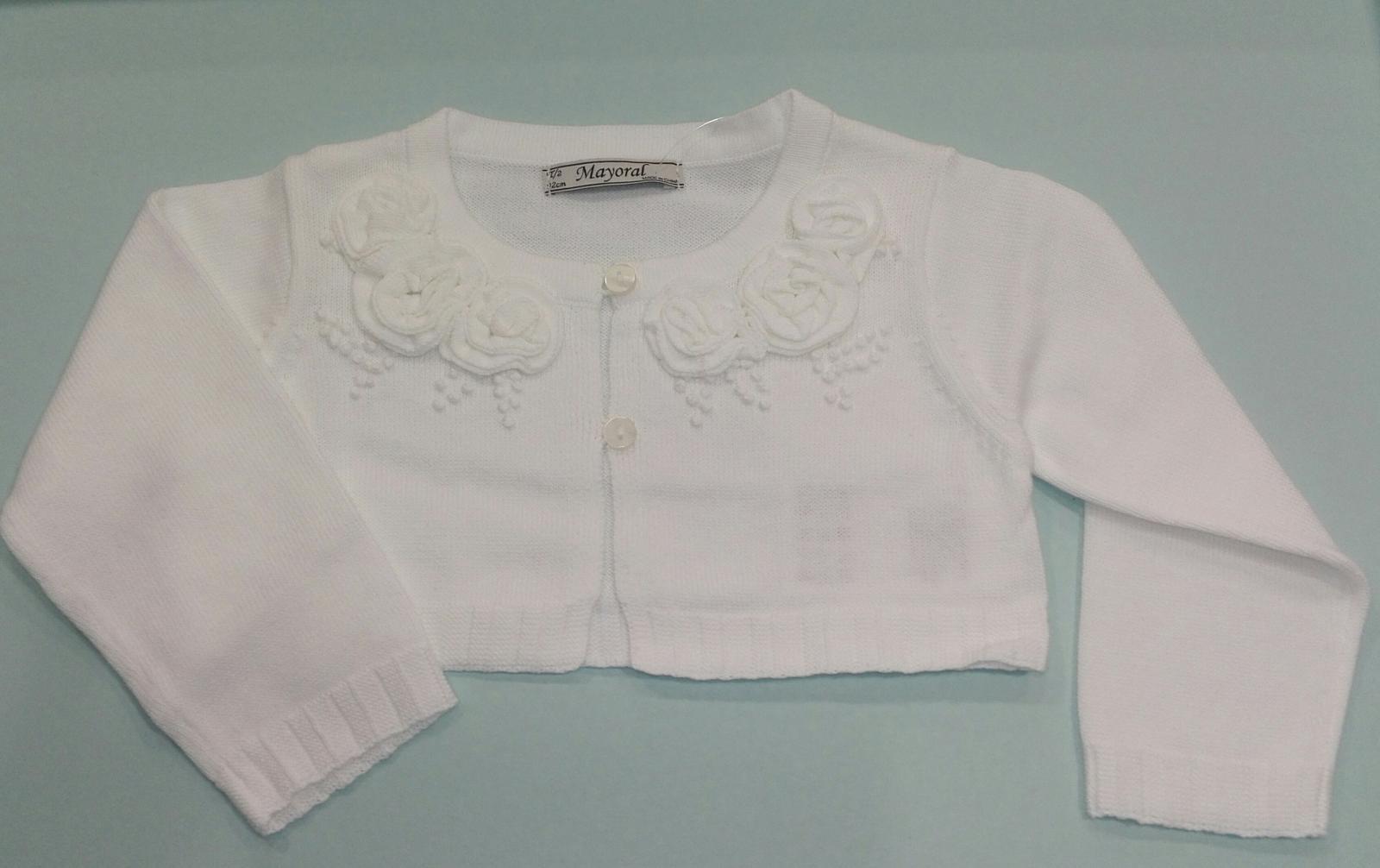 Rebeca bebé niña flores blanca Mayoral 1313