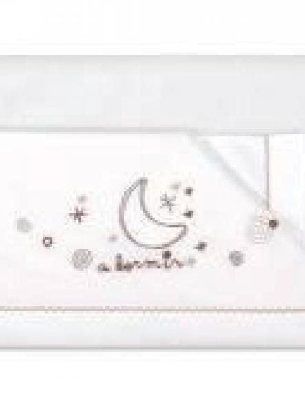 Sábanas algodón 3piezas  A dormir  blanco lino Pirulos