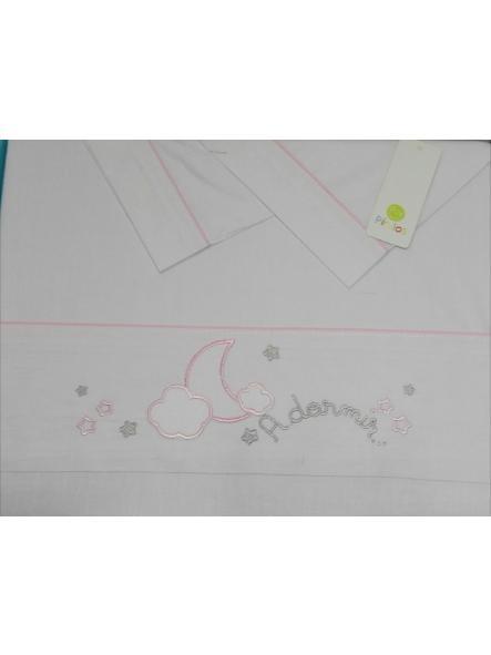 Sábanas  maxicuna algodón 3 piezas A dormir rosa de Pirulos 0919
