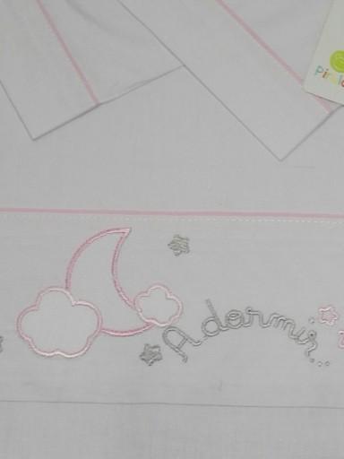 Sábanas  maxicuna algodón 3 piezas A dormir rosa de Pirulos 0919 [1]