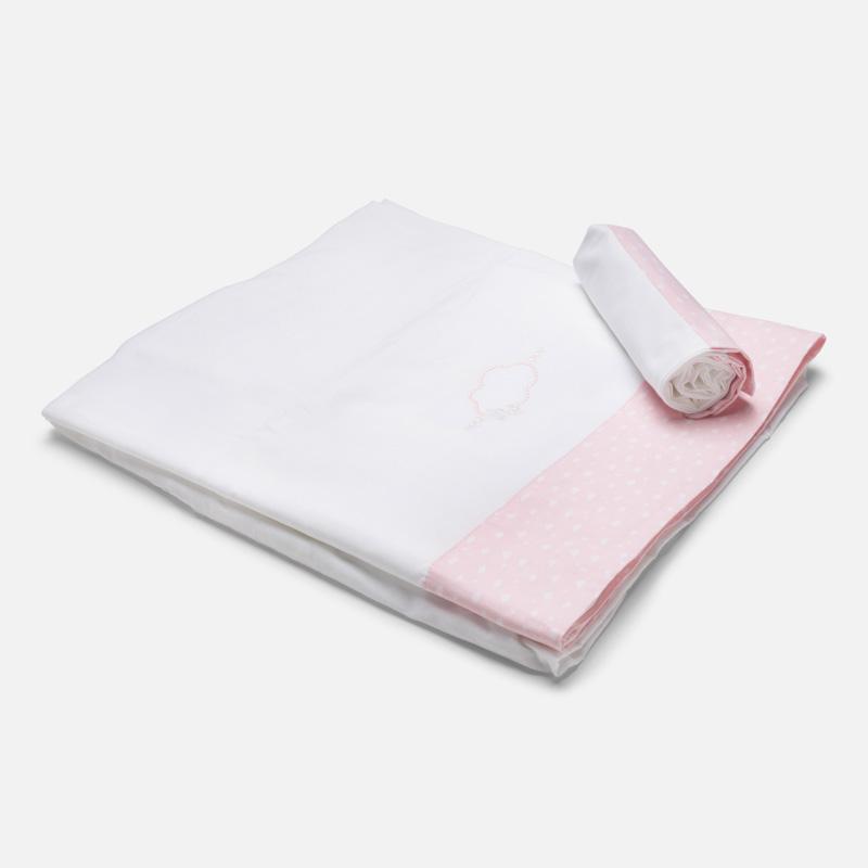 Sabanas de cuna blanca y rosa Mayoral 19577