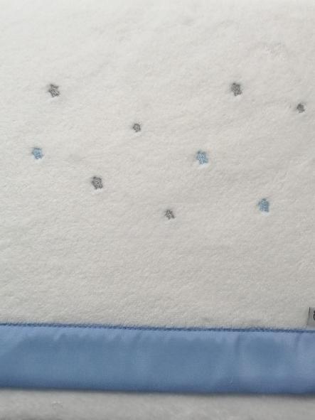 Sabanas microlina Dot Stars azul Pirulos  [1]