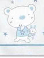 Sábanas 100% algodón Osito Star B/Azul Pirulos 130 [1]