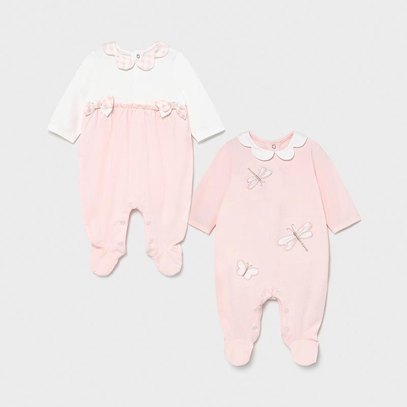 Set dos pijamas bebé niña entretiempo