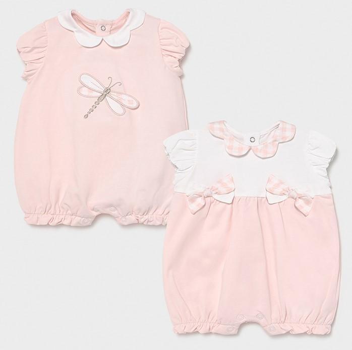 Set pijamas cortos bebé niña