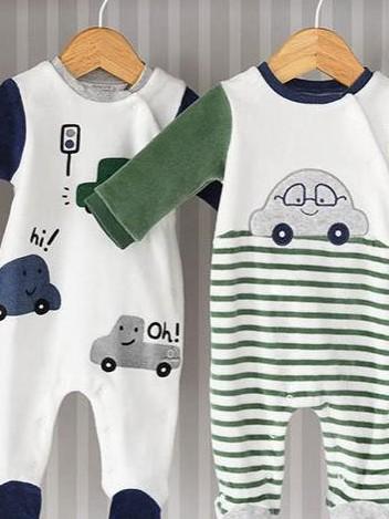 Set 2 pijamas punto tundosado coches