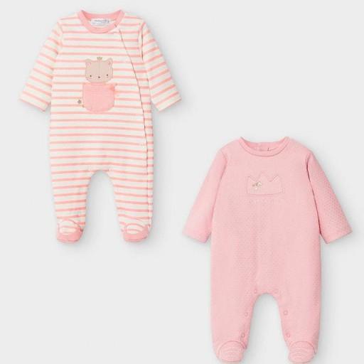 Set dos pijamas bebé niña