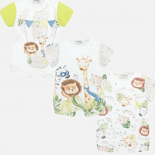 Set pijamas cortos bebé niño animalitos