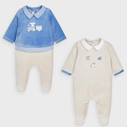 Set pijamas bebé niño trenecitos