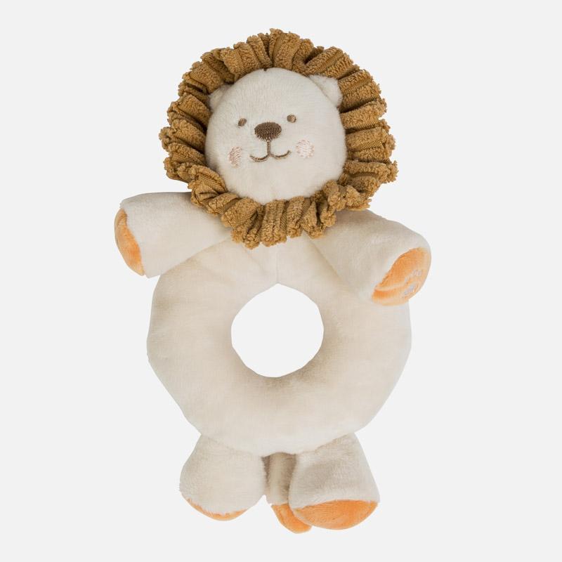 Sonajero bebé león beig