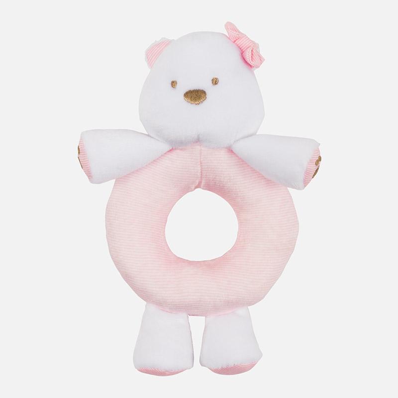 Sonajero bebé osito rosa