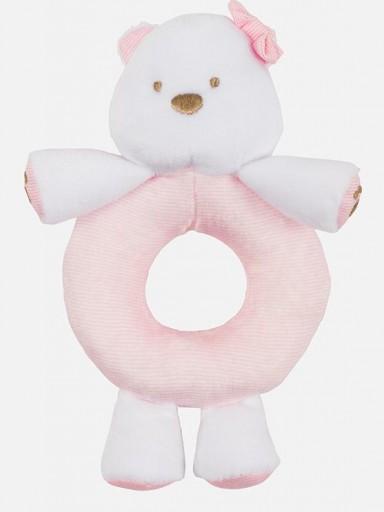 Sonajero bebé osito rosa  [0]
