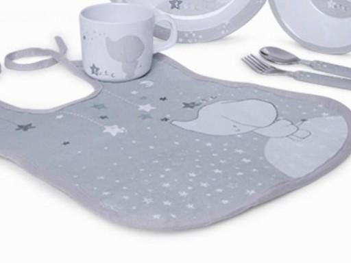 Vajilla 5 piezas y babero Weekend Constellation gris [3]