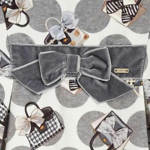 Vestido manga corta niña bolsos [3]