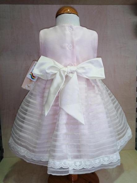 Vestido ceremonia bebé niña rosa [2]