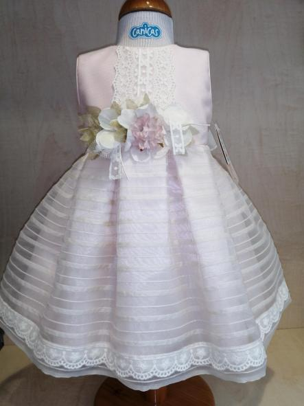 Vestido ceremonia bebé niña rosa [1]
