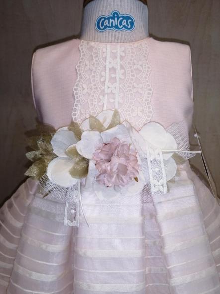 Vestido ceremonia bebé niña rosa [3]