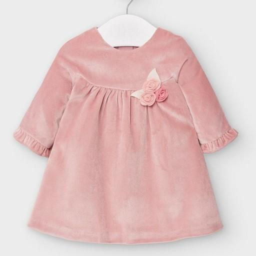 Vestido bebé terciopelo rosa
