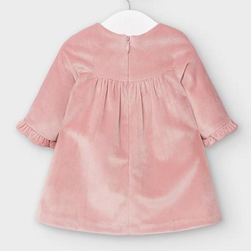 Vestido bebé terciopelo rosa [1]