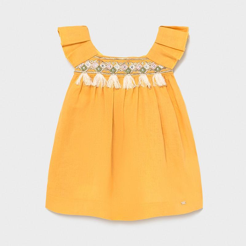 Vestido mini niña flecos