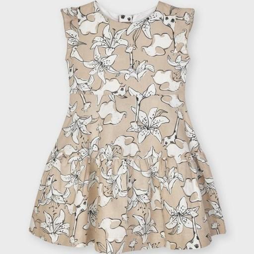 Vestido niña lino floral [1]