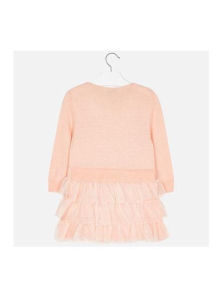 Vestido niña tricot y plumas  Mayoral 4930 [1]