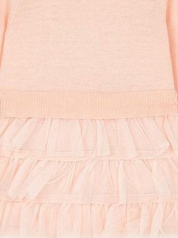 Vestido niña tricot y plumas  Mayoral 4930 [2]