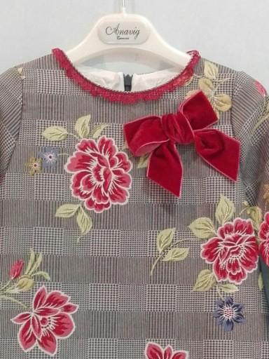 Vestido niña Anavig lazo rojo 74001 [2]