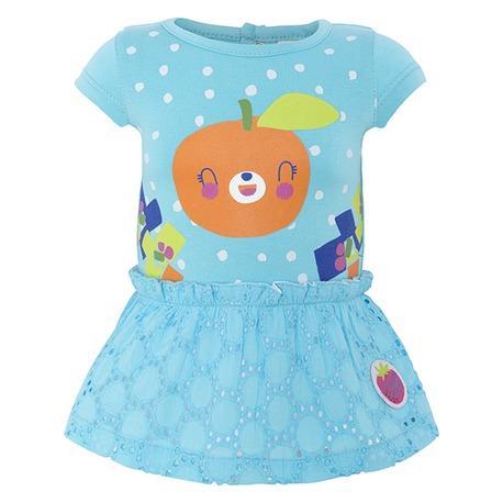 Vestido bebé niña punto y popelín Tuc Tuc Smoothies