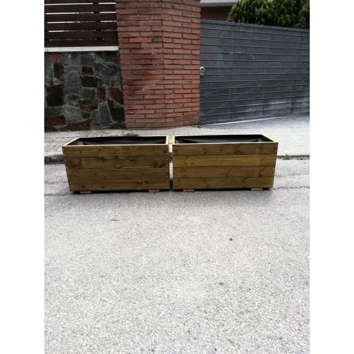 Pack 2 Jardineras 80x35x40