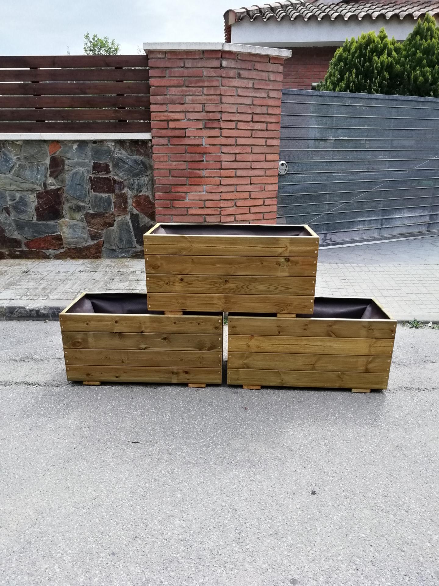 Pack 3 Jardineras 80x35x40