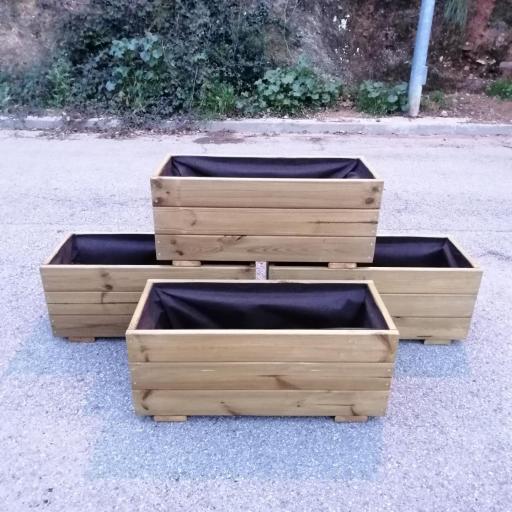 Pack 4 Jardineras 70x30x30