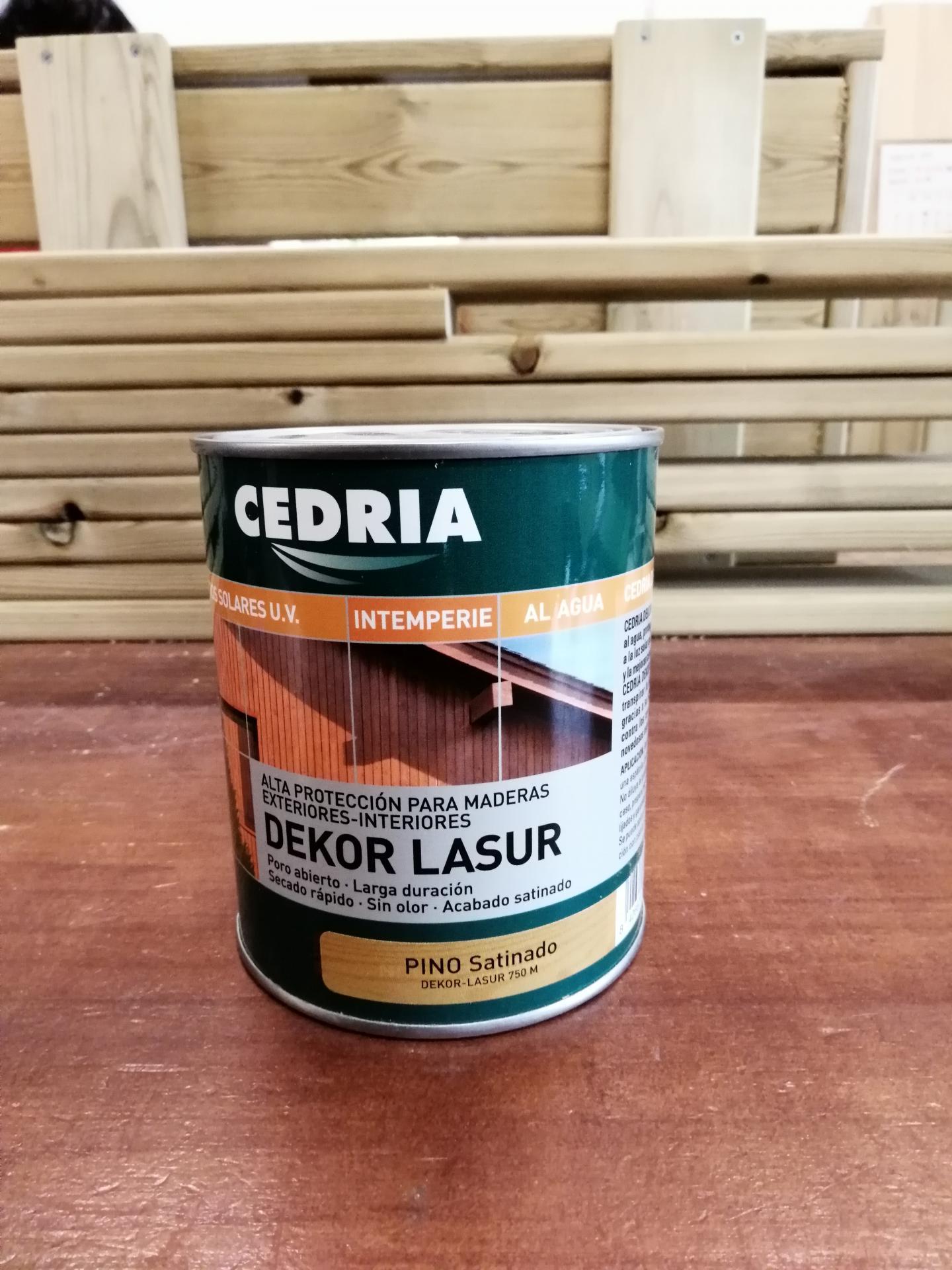 Cedria Dekor Lasur Pino Satinado