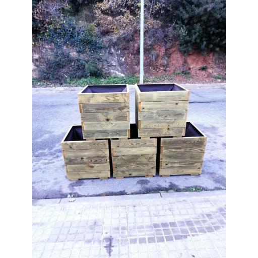 Pack 5 Jardineras 50x50x50