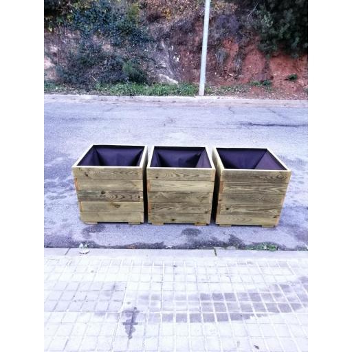 Pack 3 Jardineras 50x50x50