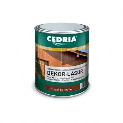 Cedria Dekor Lasur Nogal Satinado