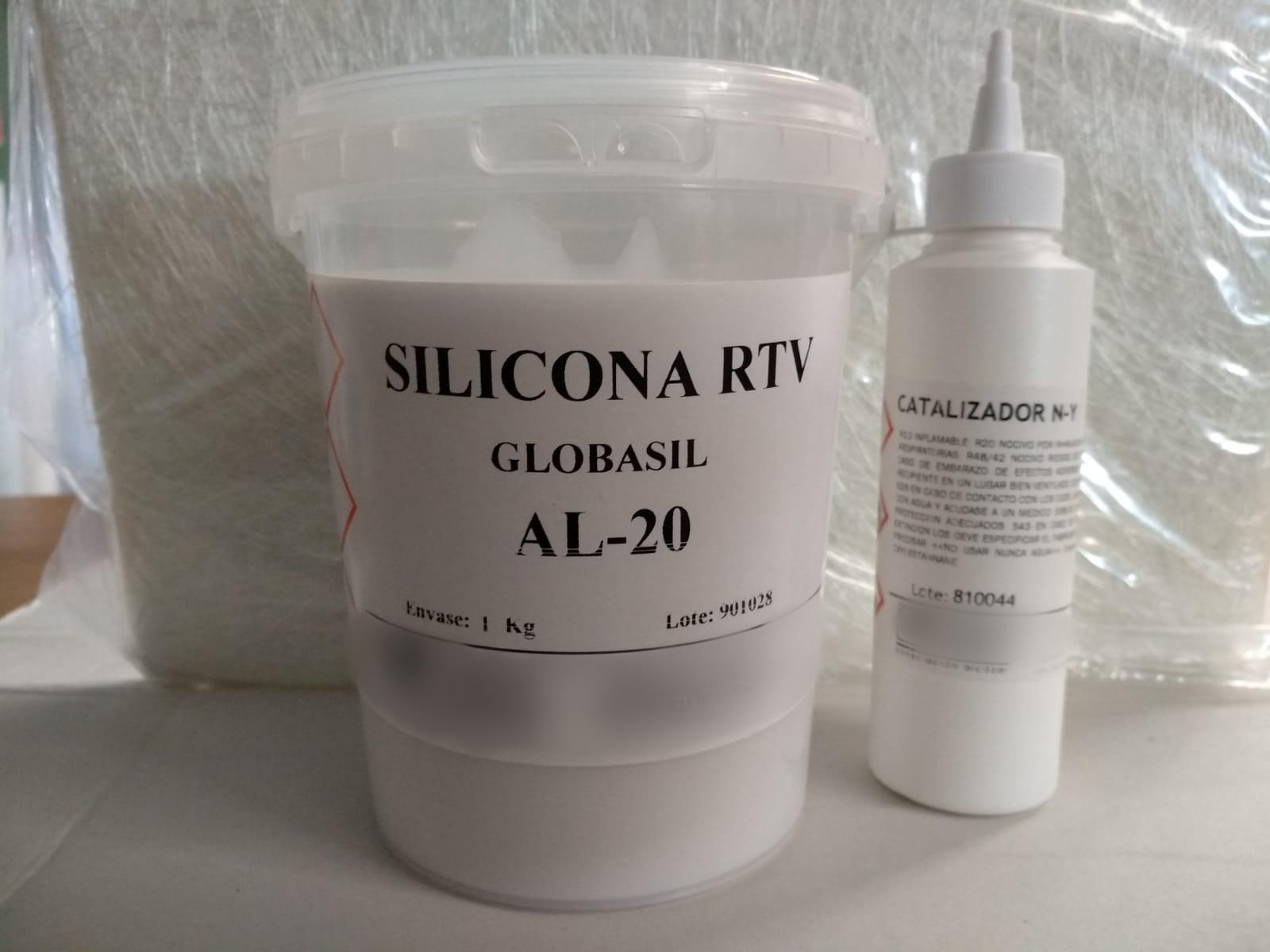 ⇧ Silicona RTV AL20 1kg +Catalizador